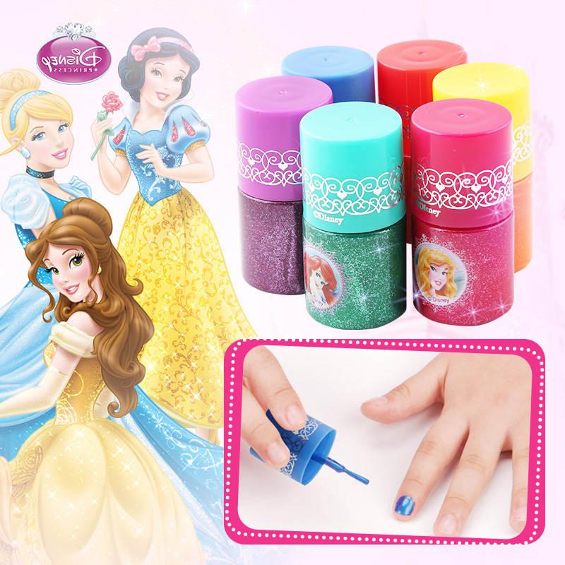 Genuine Disney Children's Makeup Toy Nail Set Non-toxic And Tasteless Water-based Nail Oil Princess Girl Polish Can Tear