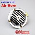 12 V Bocina de Aire Diámetro 90mm Eléctrica de la Bobina de Aluminio de Color Cromo Fuerte para Bici de la Motocicleta Del Carro Del Coche