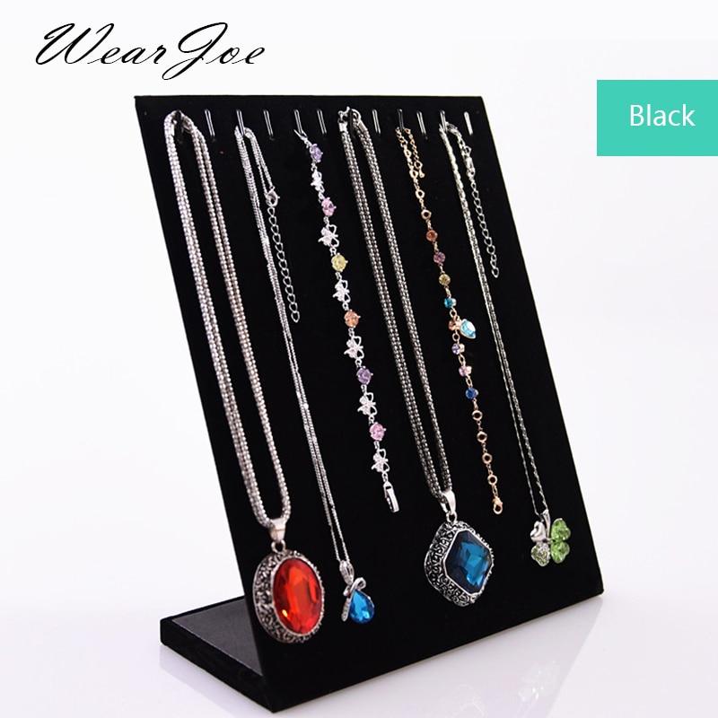 Superior Velvet 11 Hooks Jewelry Display Stand Holder Organizer