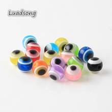 50-100pcs Evil Round Eye Resin Spacer Beads For Jewelry Making Findings Diy 6/8/10mm Necklace Bracelet