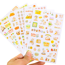 Cute Lovely 6 Sheet Paper Stickers For Diary Scrapbook Notebook Wall Decor Diy Cartoon Scrapbooking Stickers