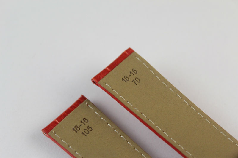 18 мм(Buckle16mm) T086207A T086208 высокое качество Серебряная Бабочка Пряжка+ красный Натуральная кожаные пальто с цветным вкраплением ремешки для часов