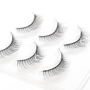 Image 3 - ICYCHEER 3 пары натуральных мягких 3D накладных ресниц, натуральный вид ресниц, ресницы для макияжа, косметика для красоты