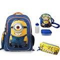1 компл. 16 дюймов детская школа сумка для девочки миньон рюкзак мешок школы набор подростков mochila миньон школьные сумки мило