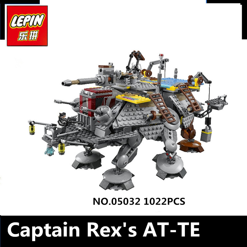 IN STOCK 1022Pcs 2016 New LEPIN 05032 Star Captain Rexs AT-TE Wars Building Blocks Brick Toy Compatible 75157 to Children Gift