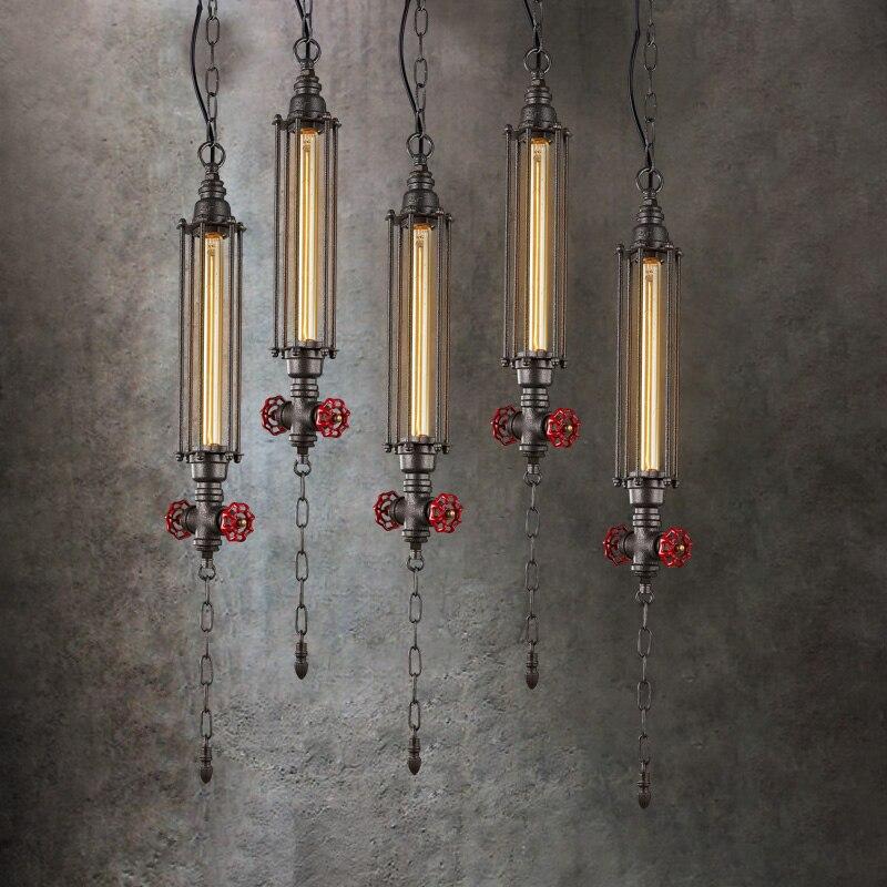 где купить American Waterpipe Lamp Hanging Pendant Lights Fixture Industrial Vintage Droplight Retro Pendant Lamp Pub Home Indoor Lighting по лучшей цене