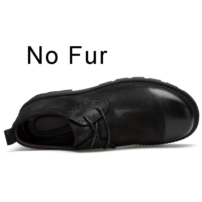 Image 5 - Мужская кожаная обувь; сезон весна осень; дизайнерская мужская повседневная обувь из натуральной кожи для прогулок; зимняя обувь на меху; chaussure homme; размера плюс-in Мужская повседневная обувь from Обувь