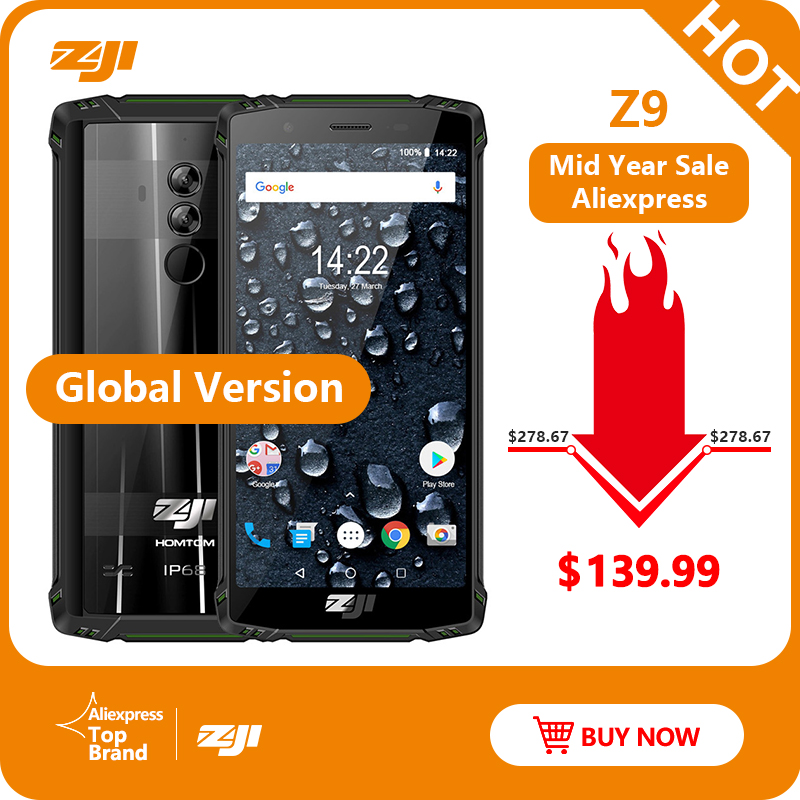 Version originale globale HOMTOM ZJI ZOJI Z9 6 GB 64 GB IP68 5500 mAh étanche Android 8.1 5.7