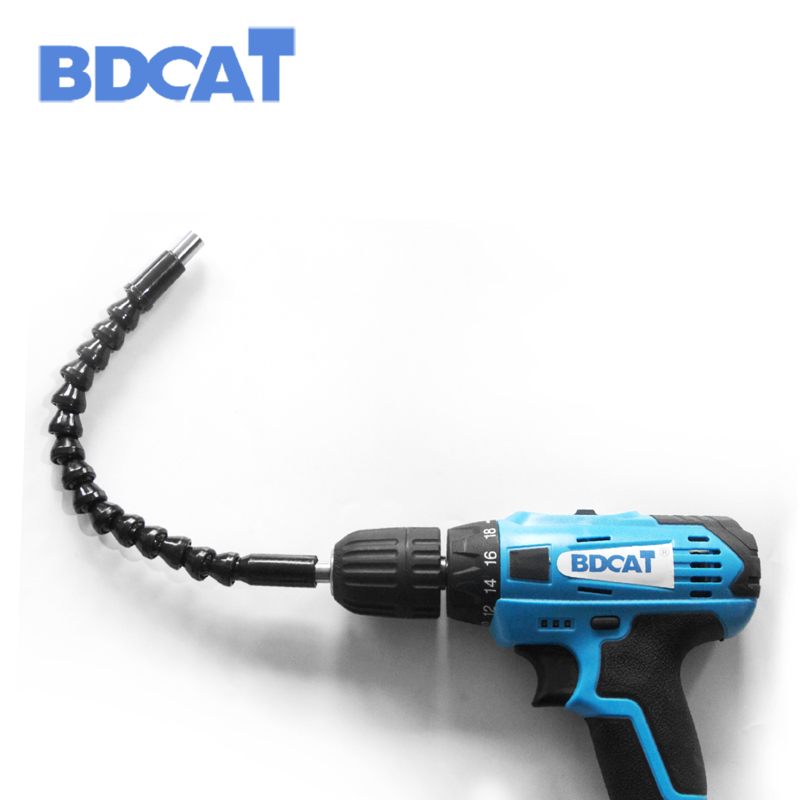 295mm Electric Drill Flexible Shaft Bit Extention electric Screwdriver Bit Holder flex shaft Connect Link power tool accessories ootdty 1 4 inch right angle driver screwdriver angled bit holder fr power drill tool