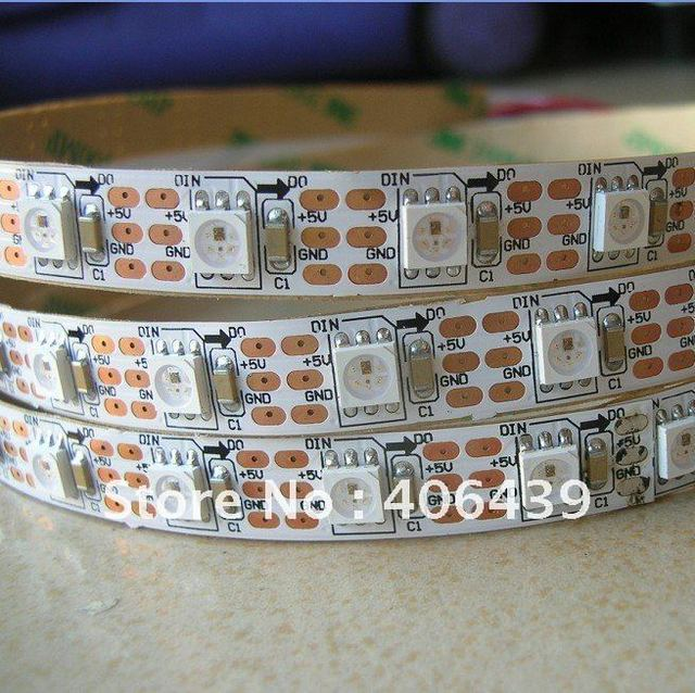 60leds/m with 60pcs WS2811 built-in the 5050 smd rgb led chip,4M WS281B LED digital strip.non-waterproof,DC5V input