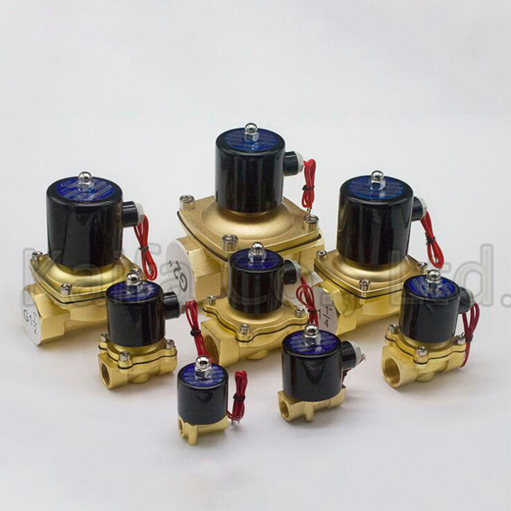1PCS New 1/4,3/8,1/2,3/4,,AC 220V,DC12V/24V Electric Solenoid Valve Pneumatic Valve for Water Oil Air Gas Normal Closed NC