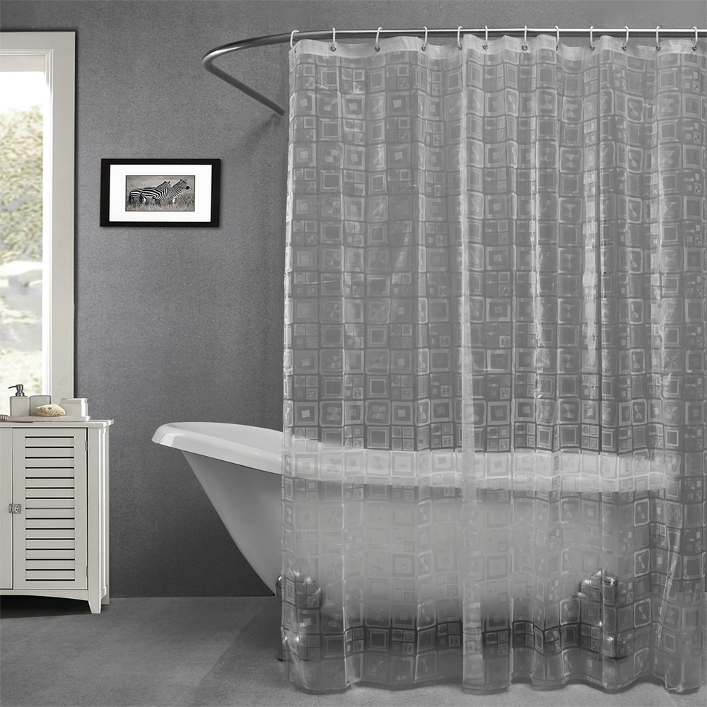Bathroom plastic curtains - Plastic Eav Embossing Semi Transparent Waterproof Thicken Shower Curtains Bathroom Shower Curtains China