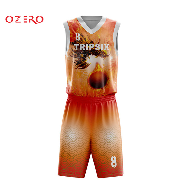 Dragon Basketball Uniform Customizing Free Design Sublimation Custom