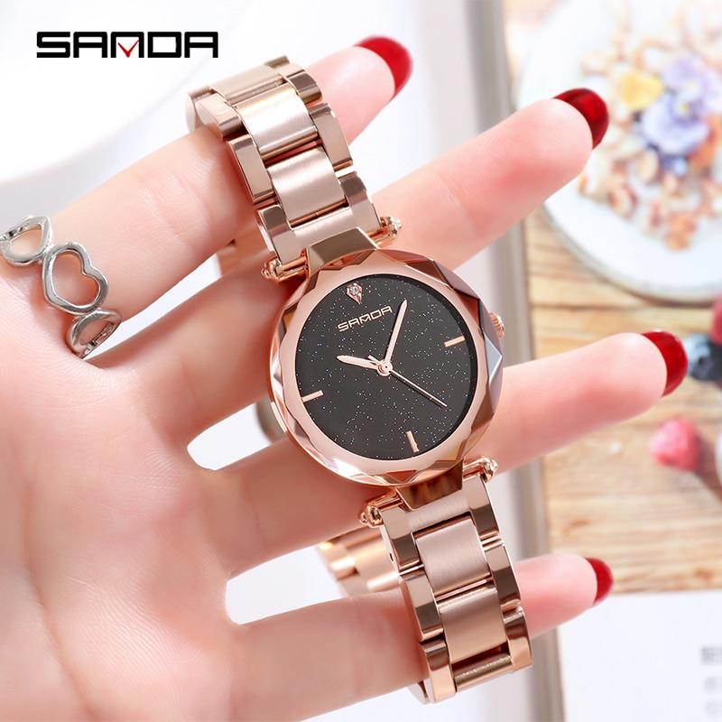 2019 marque de luxe dame cristal montre femmes robe montre de mode Rose or Quartz montres femmes en acier inoxydable montres P243