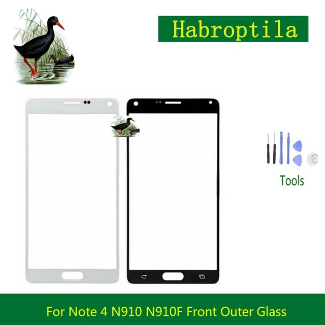 10Pcs/lot For Samsung Galaxy Note 4 N910 N910F And Note5 Note 5 N920F N920 N9200 Touch Screen Panel Front Outer Glass Lens White