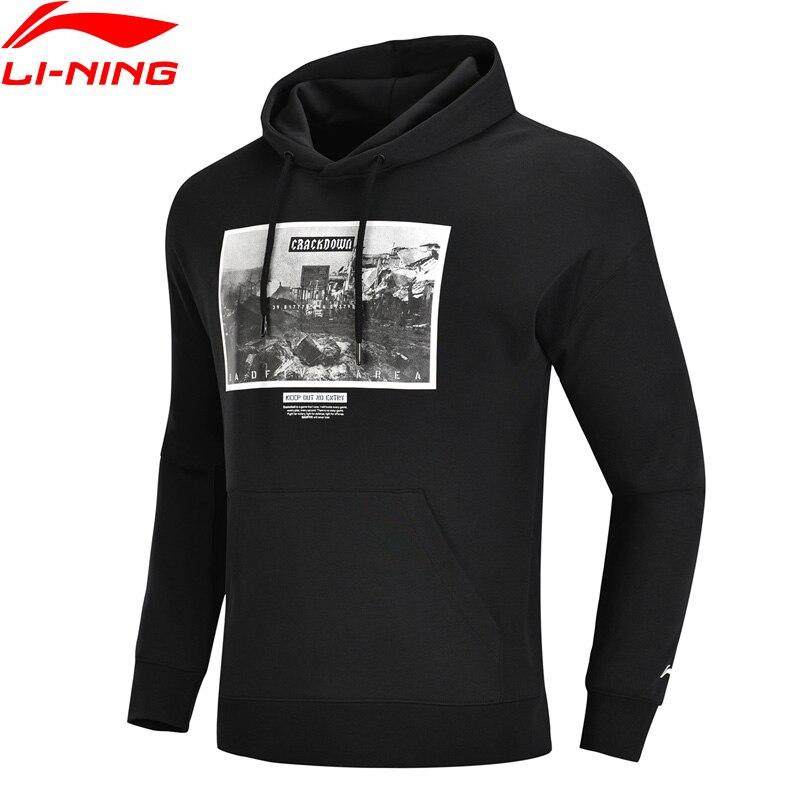 (Break Code)Li-Ning Men BAD FIVE Basketball Hoodie 82% Cotton 18% Polyester Regular Fit Li Ning LiNing Tops AWDN335 MWW1427