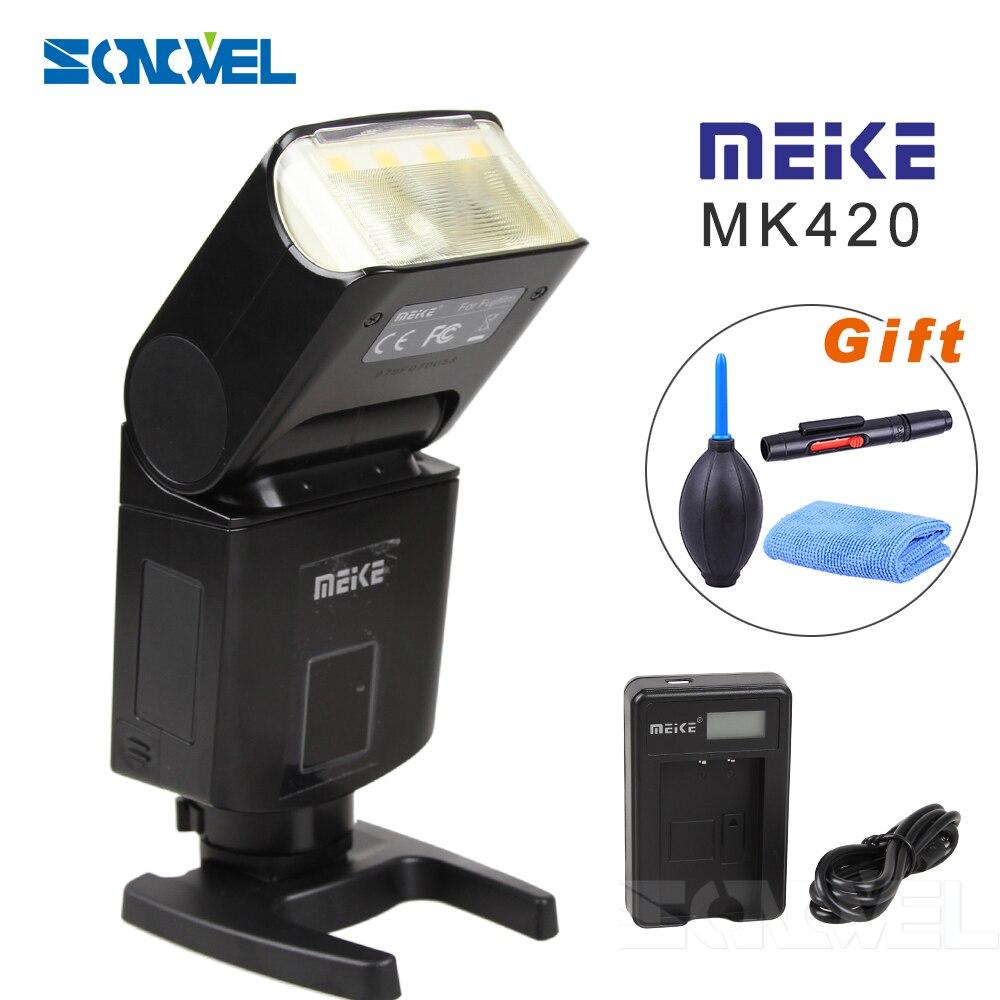 Майке mk420f Профессиональный TTL вспышки Speedlite с ЖК дисплей Дисплей литиевых Батарея для Fujifilm X T2 x t20 x t1 x t10 X Pro1 x pro2