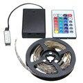 Mising led strip light rgb 5050 smd bateria impermeável/não impermeável tiras led luzes 30 50 100 150 200 cm controle remoto