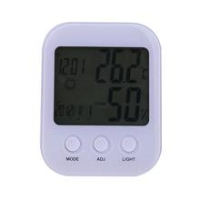 Buy online Digital LCD Display Thermometer Hygrometer Electronic Temperature Humidity Meter Indoor Outdoor Tester Temperatur Alarm Clock
