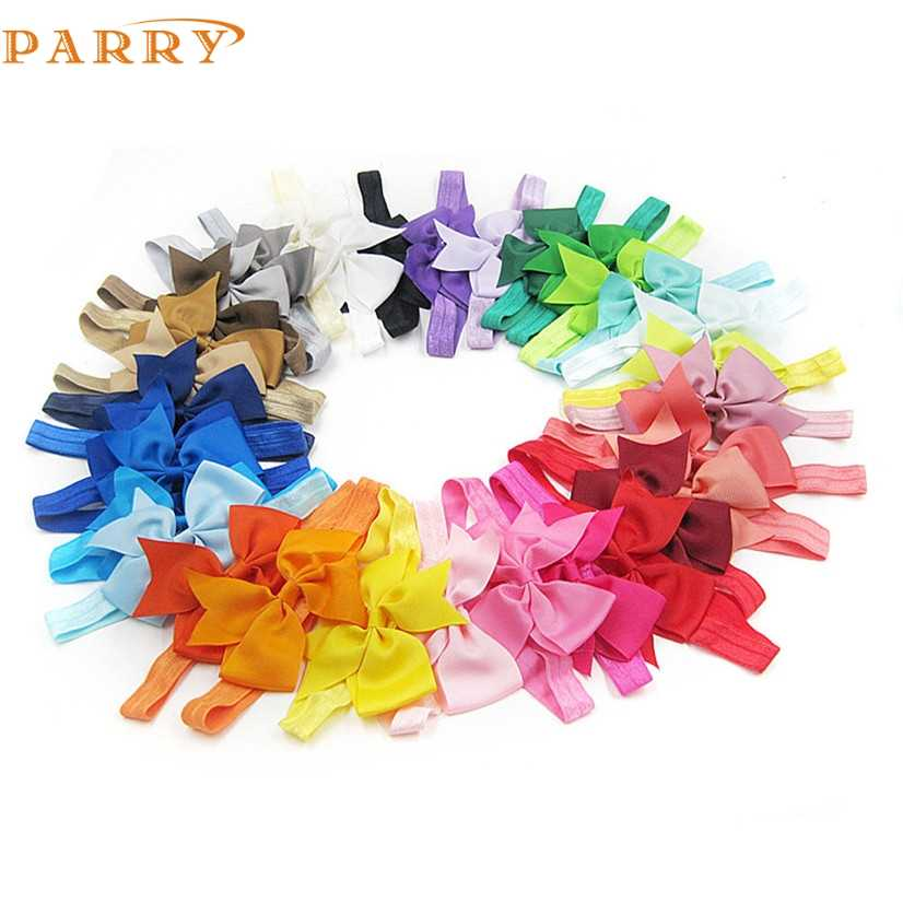 PARRY Dropship hair headband 32PC Baby baby shoes Girl Elastic Bowknot Flower Hairband Photography Headbands AG31 S25 scrunchies
