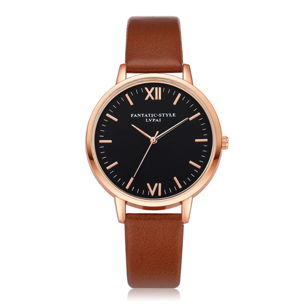 Brand Hot Selling Woman Watches Simple Rose Gold Leather Watch Fashion Ladies Quartz Watches horloges vrouwen