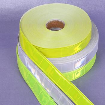 2 5 cm * 50 M o wysokiej widoczności fluorescencyjny pasek z pcv noc odblaskowe taśma ostrzegawcza materiał do szycia na ubrania torba tanie i dobre opinie FG050 koraba