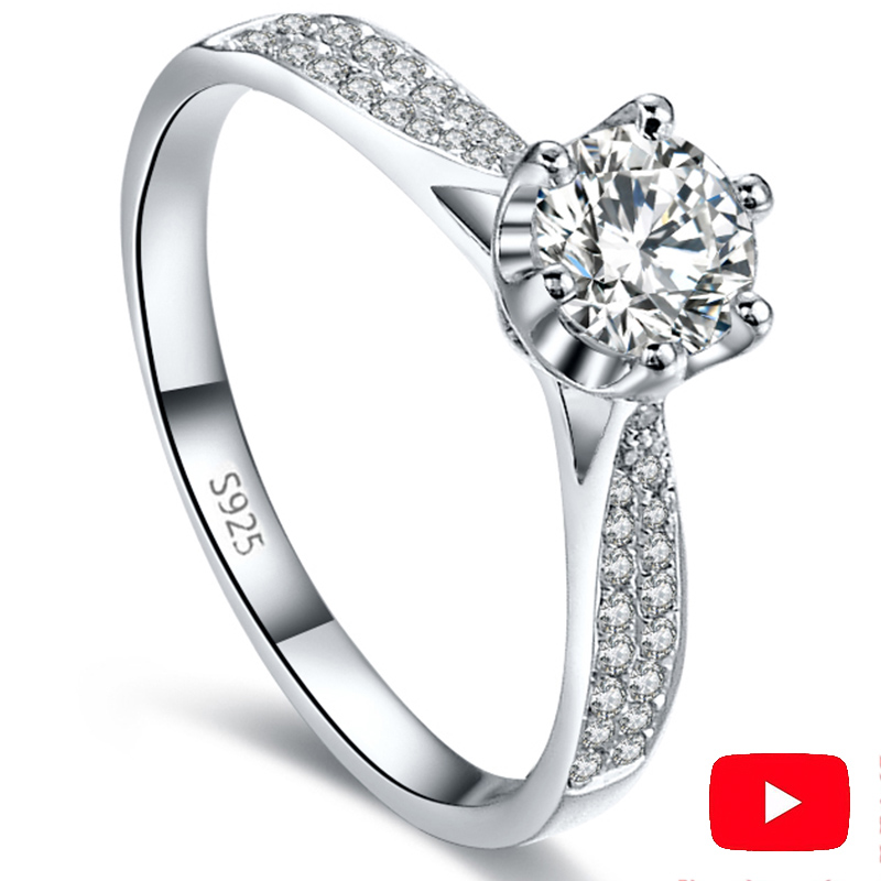 1.5 CARAT NOT FAKE S925 Sterling Silver Ring SONA Diamond Classic 6 claws Best Romance Fine Ring Wedding Engagement simple 9251.5 CARAT NOT FAKE S925 Sterling Silver Ring SONA Diamond Classic 6 claws Best Romance Fine Ring Wedding Engagement simple 925