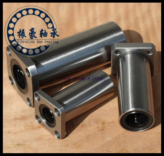 2Pcs/Lot LMK10LUU 10mm Square Flange Type Linear Motion Bearing Bushing Ball Bearing CNC Parts Brand New 2pcs lm10luu long type 10mm linear motion ball bearing slide bushing for diy cnc parts for 10mm linear shaft
