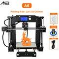 Anet A6 настольный 3d принтер, набор, большой размер, высокая точность, Reprap Prusa i3, сделай сам, 3d принтер, алюминиевая Горячая кровать, Подарочная н...
