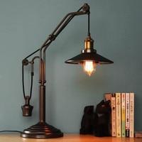Designer RH Originality Retro Industrial Wind Rural European Restaurant Lift Table Lamp Bed Room Bedside Decoration LED Lights