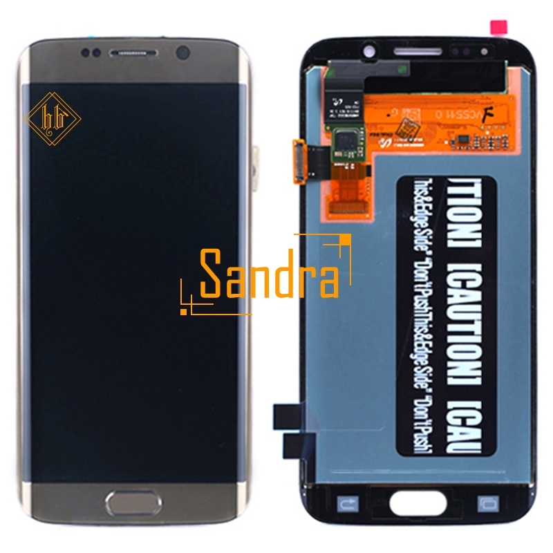 Новый бренд HH для Samsung Galaxy S6 Edge ЖК дисплей Дисплей Сенсорный экран планшета Ассамблеи 1 шт высокого качества G925 G925F G925i ЖК дисплей + Инструмент