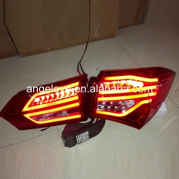 2014-2015 year For TOYOTA Corolla Rear lights LED taillight Red White color YZ