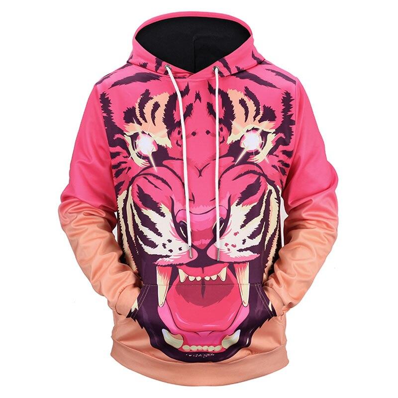 Headbook New Fashion Women/Men 3d Sweatshirt With Hat Print Shine Eyes Ferocious Tiger Hoody Hooded Hoodies H1308