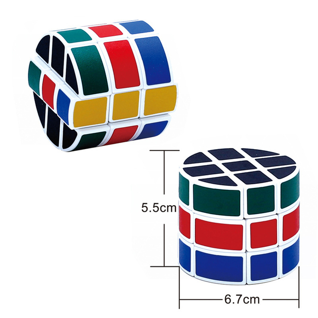 New 6.5cm Best-seller three-order cylindrical black Magic Cubes order children's educational mini entertainment toys sale