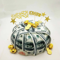 Деньги USD доллар, GBP, Rupee, EUR съедобная Вафля бумага для украшения торта, 36 шт заказной вафельный перевод бумаги для торта