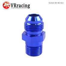 VR RACING-(AN8-NPT3/8) AN8 to 3/8 NPT Straight Adapter Flare Fitting auto hose fitting Male VR-SL816-08-06-011