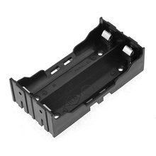 Model New Black Battery Holder four Pins for 2×18650 Rechargeable Li-ion Batteries