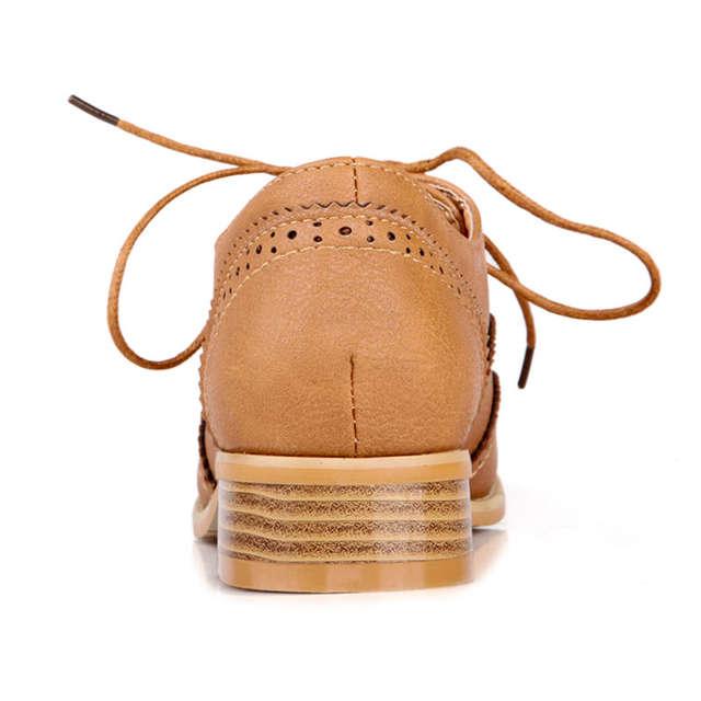 d1a2e05e1 Fanyuan Oxford flats mulheres sapatos 2018 concisa Pontas do dedo do pé de Costura  Lace-