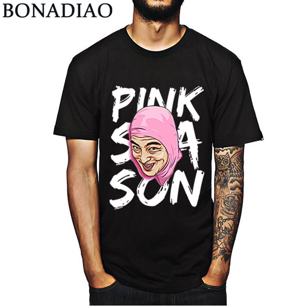 e43da46aa Novidade Rosa Cara Imundo Frank T Camisa Moda Hip Hop Joji S-6XL Homme  Camiseta Crewneck T-shirt