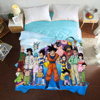 Mxdfafa Japan Anime Dragonball Summer Quilt Sexy Summer Throw Quilted Tencel 3D Bedding Home Decorations Twin Full Queen Size