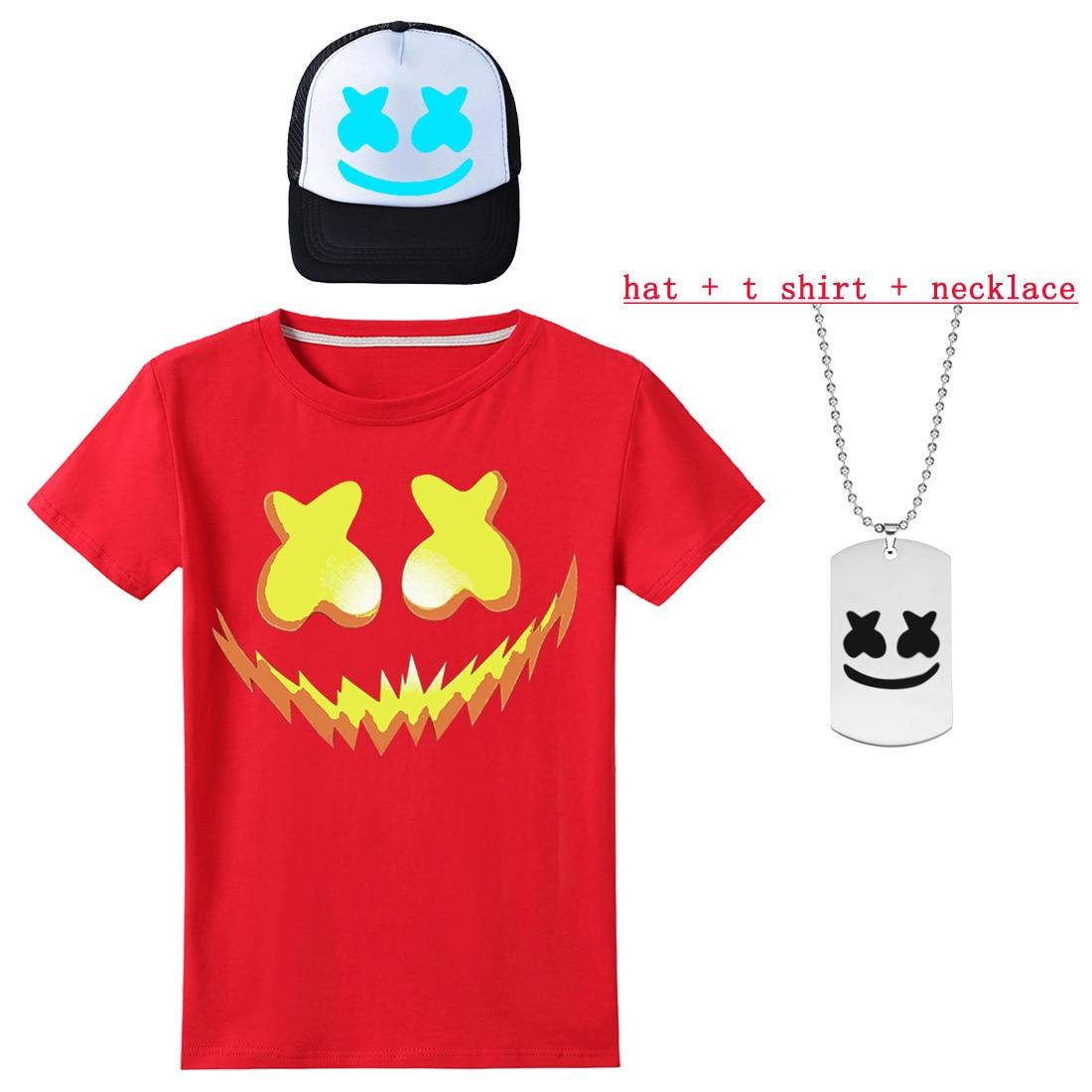 Roblox Luminous Hat Boy Short Sleeves T Shirts For Dj Music Girls