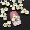 2015 Newn 10Pcs 3D Alloy Glitter Rhinestone Different Styles Nail Art  Salon  Stickers Tips DIY Decorations 6F5O