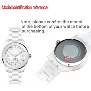 Image 2 - Aplicável para armani cerâmica relógio 20mm23mm preto branco brilhante pulseira cerâmica relógio modelo ar1424 ar1472 ar1421 ar1424 pulseiras de relógio