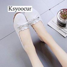 Ksyoocur/Женские повседневные туфли на плоской подошве, с круглым носком, весна/лето, 2020