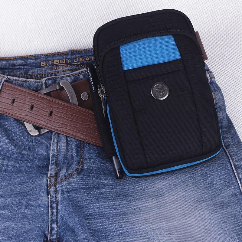 6 collu mobilā tālruņa vidukļa komplekts Testificate soma Monētu maku siksna Ikdienas mobilā tālruņa soma Vidukļa siksna Jostas jostas maisiņš vīriešiem