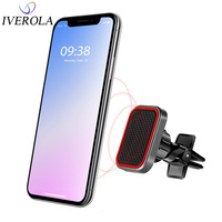 Phone Holder Car Air Vent Mount Universal Magnetic Holder For iPhone X XS XR Max 8 Strong Magnet Car Holder Mobile Phone Stand