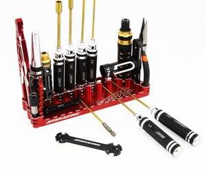 Image 5 - Tournevis hexagonal clé ciseaux pinces trou pelle kit doutils de réparation pour rc hélicoptère avion voiture bateau