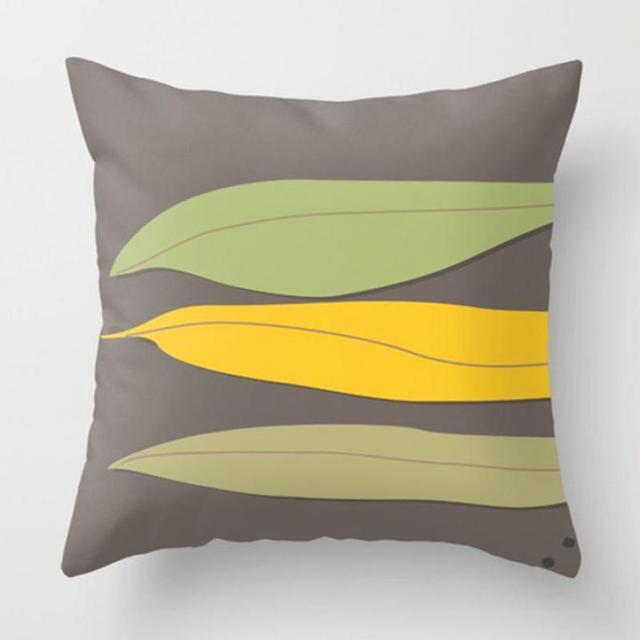 40x40 Cm Hause Dekorative Tropical Blätter Kissenbezug Lving Esszimmer  Stuhl Kissen Abdeckung Grüne Pflanze Blatt