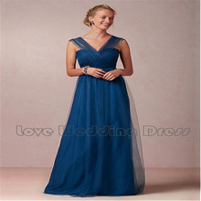 Criss Cross V Neck Tulle Cheap Bridesmaid Dresses Floor Length Bridesmaid Dress Ruched Prom Dress Draped Vestido De Festa