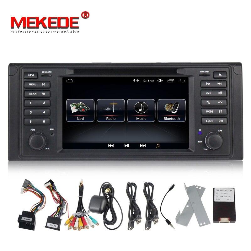 Quad core Android8.0 MIC carta del regalo di 7 pollici touch screen Car Audio radio per BMW E53 X5/E39 5/M5 97-06 con lettore dvd gps